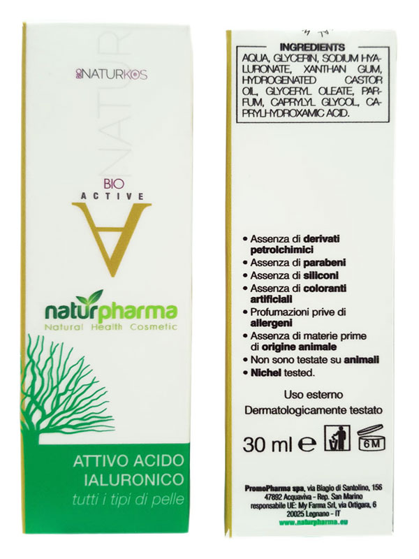 BIONATURKOS ACTIVE ATTIVO ACIDO IALURONICO 30 ML